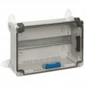 Коробка промышленная пластиковая IP55 IK07 RAL 7035 310x240x124мм сплошная крышка; 035980