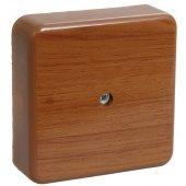 UKO10-075-075-028-K24; Коробка распаячная КМ41216-05 для открытой проводки 79х79х29 мм дуб (6 клемм 6мм²)