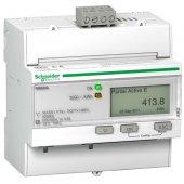 Счетчик электроэнергии трехфазный однотарифный iE M3250 RS-485, кл. точн. 0.5S, транс. вкл.; A9MEM3250R
