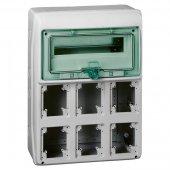 Щит распределительный навесной ЩРн-12 IP65 пластиковый для разъемов 6 отверстий; 13181