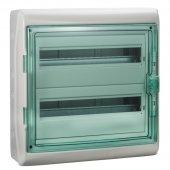 Щит распределительный навесной ЩРн-П-36 (2х18) IP65 пластиковый прозрачная дверь белый Kaedra; 13984