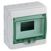 Щит распределительный навесной ЩРн-П-8 пластиковый белый прозрачная дверь IP65 Kaedra; 13978