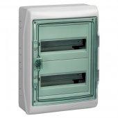 Щит распределительный навесной ЩРн-П-24 IP65 пластиковый прозрачная дверь белый Kaedra; 13983