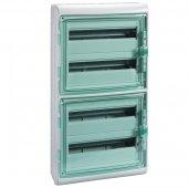 Щит распределительный навесной ЩРн-П-72 IP65 пластиковый прозрачная дверь белый Kaedra; 13987
