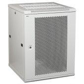 LWR3-09U66-PF; Телекоммуникационный шкаф настенный LINEA W 9U 600x600 мм дверь перфорированная RAL7035
