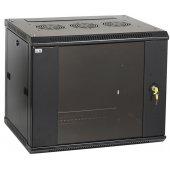 LWR5-12U64-GF; Телекоммуникационный шкаф настенный LINEA W 12U 600x450мм дверь стекло RAL9005