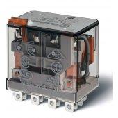 563480240040; Миниатюрное силовое электромеханическое реле или наконечники Faston (4.8х0.5мм) 4CO 12A, AgNi, катушка 24В АC, RTI