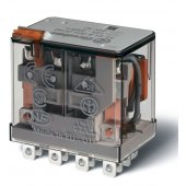563490240040; Миниатюрное силовое электромеханическое реле или наконечники Faston (4.8х0.5мм) 4CO 12A, AgNi, катушка 24В DC, RTI