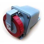 Розетка кабельная красная 16А 3Р+N+E IР67 на поверхность 415В CEWE; 2CMA167166R1000 (416 RS6W)