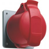 Розетка кабельная красная 16А 3Р+E IР44 скрытая 415В прямой фланец CEWE; 2CMA193178R1000 (316 RU6)