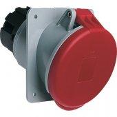 Розетка кабельная красная 63А 3Р+N+E IР44 скрытая 415В наклонный фланец CEWE; 2CMA167430R1000 (463 RAU6)