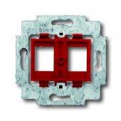 2CKA001753A9972; Суппорт для 2-х разъёмов фирм AMP/tyco Electronics, BTR, EFB, KRONE, RADIALL, Setec, с красным цоколем, без монтажных лапок