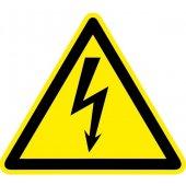 """pn-1-01; Знак пластик """"Опасность поражения электрическим током"""" (Молния) W08 (100х100мм.) PROxima"""