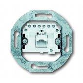 Механизм 1-постовой телефонной розетки 8 полюсов RJ 11/12; 0230-0-0378 (0230-0-0227) (0213)