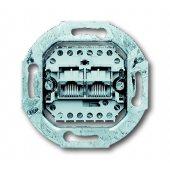 Механизм 2-постовой телефонной розетки 8/8 полюсов, раздельно, RJ 11/12'; 0230-0-0243 (0215)