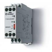 719282300001; Термисторное реле (PTC) память отказов, 230В АС, выход 2СO 10A, ширина 22.5мм, IP20