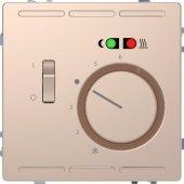 MTN5764-6051; Терморегулятор теплого пола D-Life с центральной платой с выключателем +4м 230В шампань SD