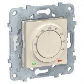 NU550344; Unica New Термостат бежевый теплого пола, 10А, выносной термодатчик