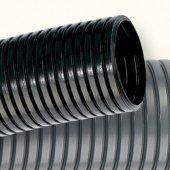 PA613643F2 Труба гофрированная номинальный ф36мм, полиамид (PA 6), ПВ-2, безгалогенная, с протяжкой, цвет чёрный (цена за метр)