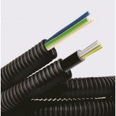 7S720100 Труба гибкая гофрированная номинальный ф20мм, ПНД, цвет черный, в комплекте с кабелем ВВГнг-LS 2.5*3 ГОСТ