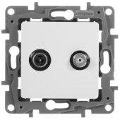 Розетка TV-SAT двухкабельная ETIKA белый; 672257