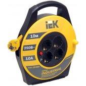 WKP15-16-04-10; Удлинитель на катушке УК10 с термозащитой 4 розетки 2P+PЕ/10м 3х1.5 мм² Industrial