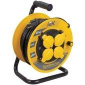 WKP15-16-04-20-44; Удлинитель на катушке УК20 с термозащитой 4 розетки 2P+PЕ/20метров 3х1.5мм² IP44 Industrial plus