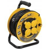 WKP15-16-04-30-44; Удлинитель на катушке УК30 с термозащитой 4 розетки 2P+PЕ/30метров 3х1.5мм² IP44 Industrial plus