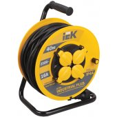 """WKP15-16-04-40; Удлинитель на катушке УК40 с термозащитой 4 розетки 2P+PЕ/40м 3х1.5 мм² """"Industrial"""""""