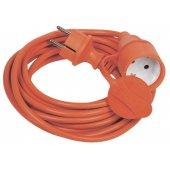 WUP10-20-K09-44; Шнур УШ-01PВ оранжевый с вилкой и розеткой 2P+PE/20 метров 3х1.0 мм² IP44