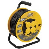 WKP15-16-04-50; Удлинитель на катушке УК50 с термозащитой 4 розетки 2P+PЕ/50метров 3х1.5 мм² Industrial