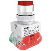 Выключатель кнопочный ВK-22 красный ABLFP D=22мм 220В; 25020DEK