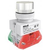 Выключатель кнопочный ВK-22 белый ABLF D=22мм 220В; 25011DEK