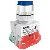 25022DEK; Выключатель кнопочный ВK-22 синий ABLFP D=22мм 220В