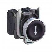 Кнопка черная Стрелка без фиксации 1НО ; XB4BA3351