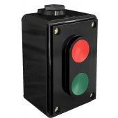 Пост кнопочный ПКЕ-02 черный на 2 кнопки LA4-2H 2з+2P (2НО+2НЗ) 220В/380В; 25064DEK