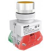 Выключатель кнопочный ВK-22 желтый ABLF D=22мм 220В; 25015DEK