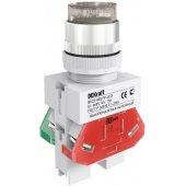 Выключатель кнопочный ВK-22 белый ABLFP D=22мм LED 220В; 25025DEK