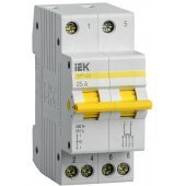 MPR10-2-025; Выключатель-разъединитель трехпозиционный ВРТ-63 2P 25А