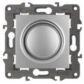 Светорегулятор поворотно-нажимной 400ВА 230В Elegance алюминий 14-4101-03; Б0034341