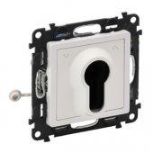 752119; Переключатель Valena Life кнопочный с ключом 3 положения с самовозвратом 10А 230В с лицевой панелью белый