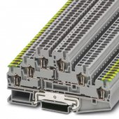 3036097; Заземляющий клеммный модуль с пружинными зажимами ST 2.5-PE/L/L